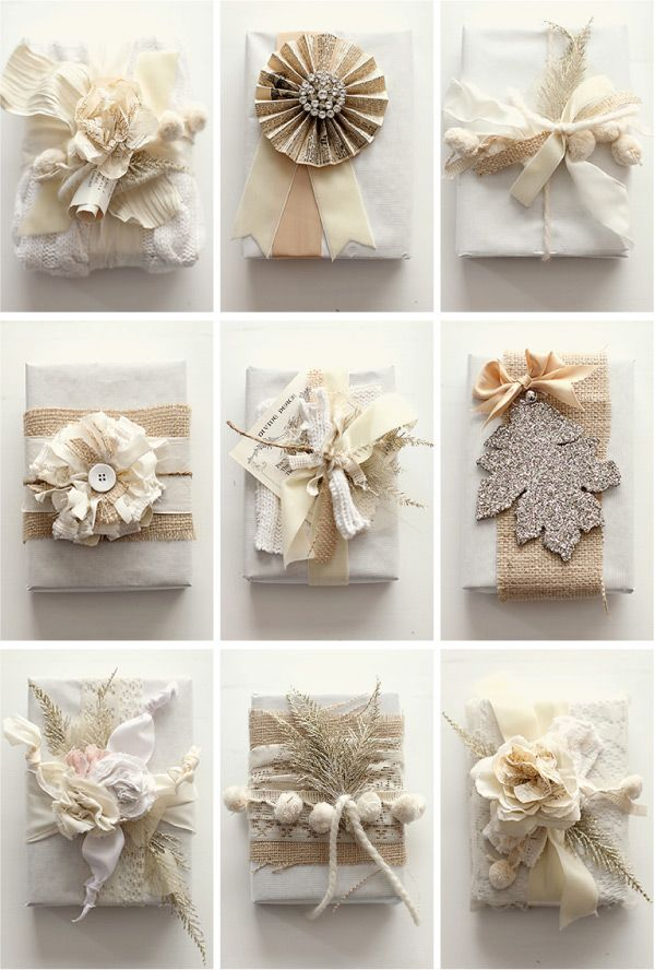 14 Creative Gift Wrap Ideas • Lot's of ideas, including these from 'Gr...