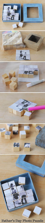 DIY photo puzzle blocks