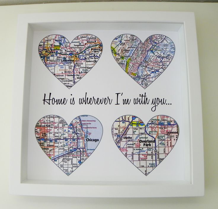 Birthday Gifts Heart Map Art Personalized Engagement Gift Unique