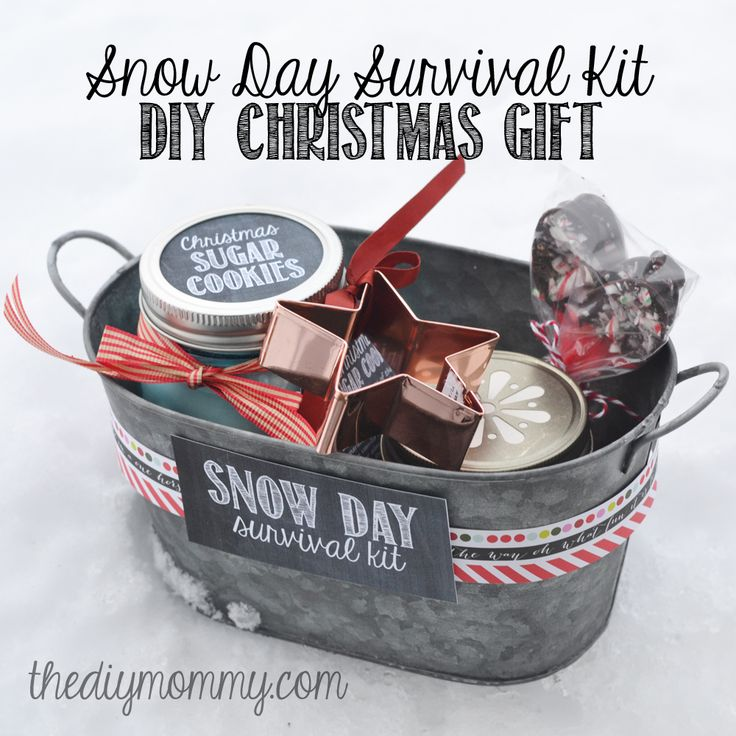 Make a Snow Day Survival Kit Christmas Gift | The DIY Mommy