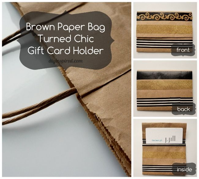 Birthday Gifts Reuse Repurpose Recycle How To Make This Chic DIY Repurposed Gift Card Holder