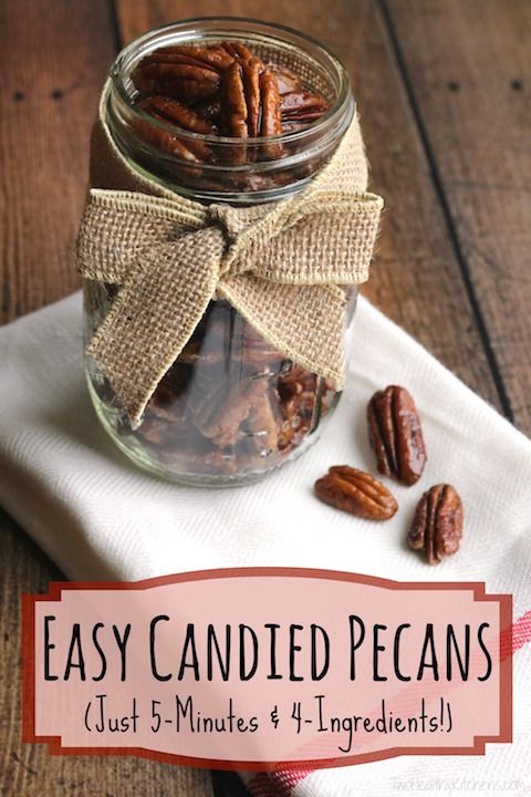 These deliciously easy candied pecans are so lightning-fast! You'll be making ...
