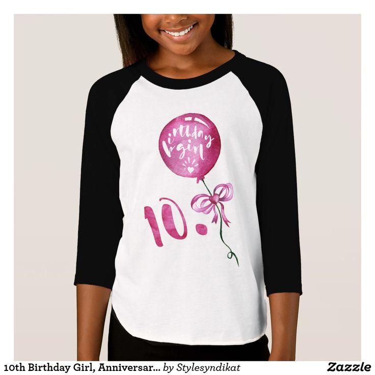 10th Birthday Girl Anniversary Girls Gifts T Shirt