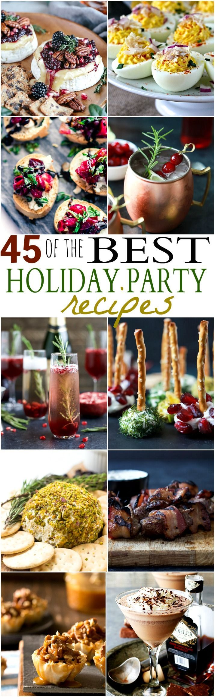 Ensure you have the BEST Holiday Party around with these fun Party Recipes. From...
