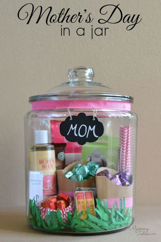 Creative DIY Mothers Day Gifts Ideas - Mother's Day Gift In A Jar - Thoughtful...