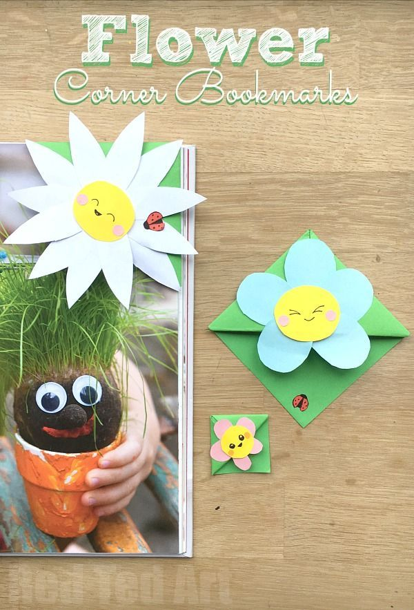 Easy Flower Bookmark Corner - Super cute and easy flower corner bookmark, perfec...