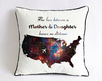 Mothers Day Gift Ideas Galaxy Mother Daughter Throw Pillow Cover