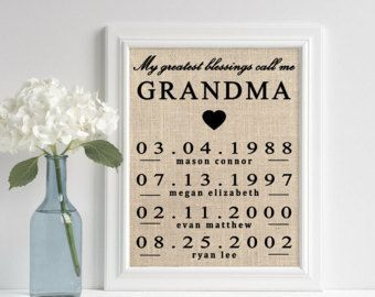 Mother S Day Gift Ideas Gifts For Grandma Personalized Grandma