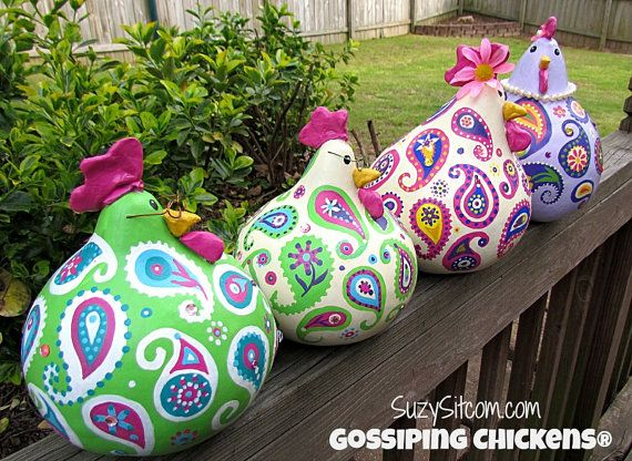 Mother S Day Gift Ideas Gossiping Chickens Cute Paisley Painted Chicken Gourds Check Out My Etsy Sho My Gifts List Leading Gifts Inspiration Magazine Gift Ideas For Everyone Find The
