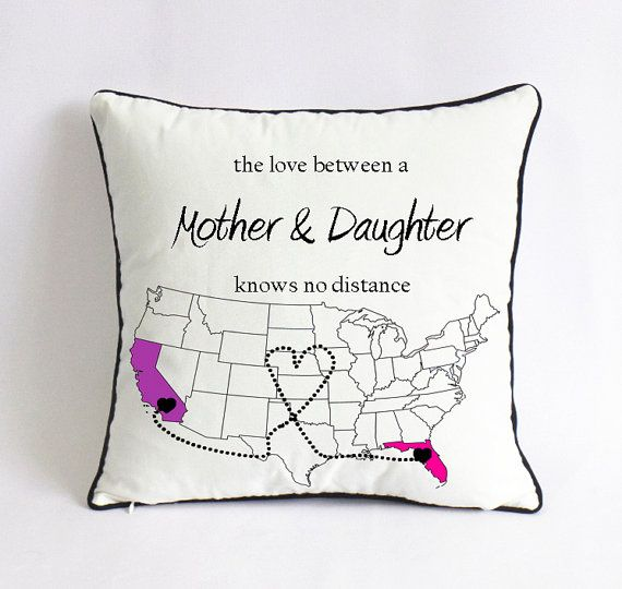 Mother\'s Day Gift Ideas : Mother daughter pillow with USA map ...