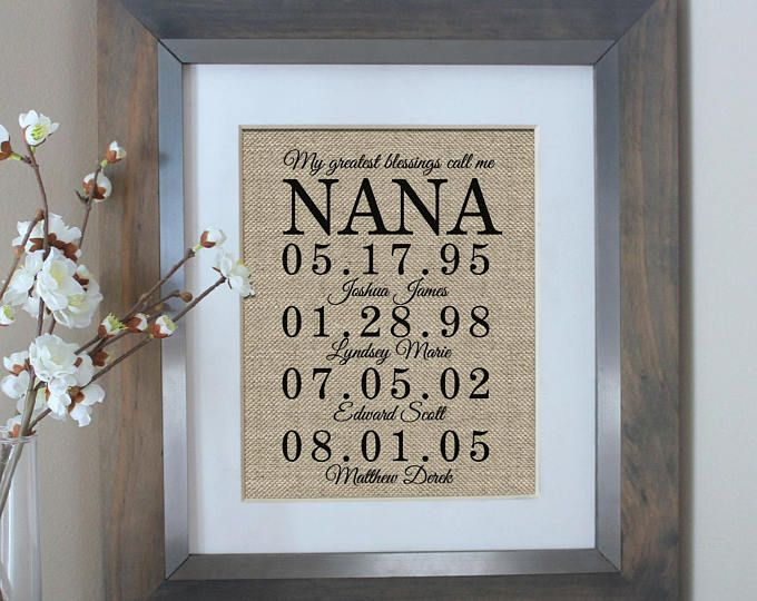 Personalized Nana Gift Christmas Gift for Nana My Greatest Blessings Call Me N. & Motheru0027s Day Gift Ideas : Personalized Nana Gift Christmas Gift for ...