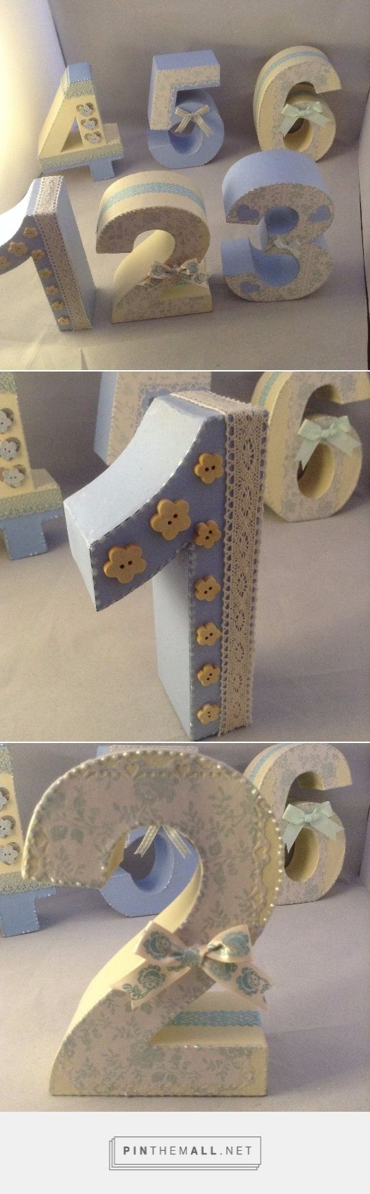 Hand decorated chunky table numbers Wedding table Wedding table numbers Wedding ...