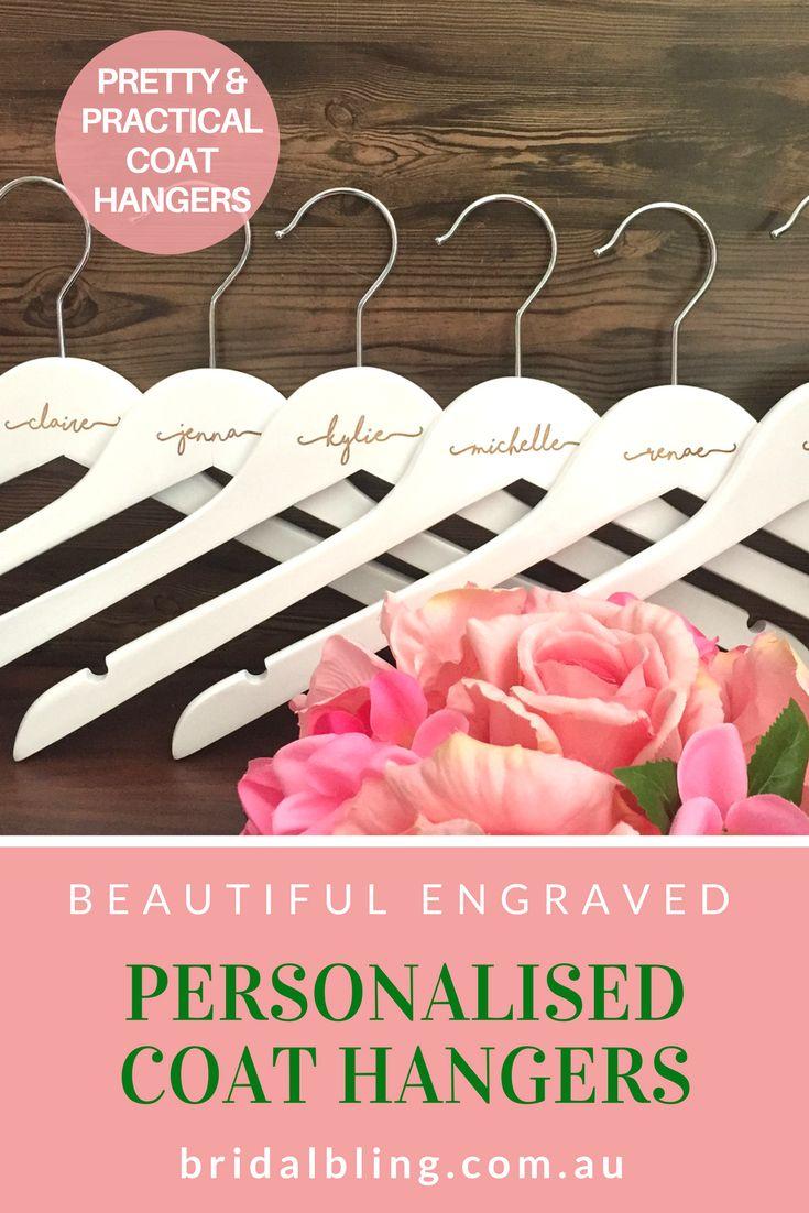Coat hangers with name, custom coat hangers, Personalised wedding hangers, Perso...