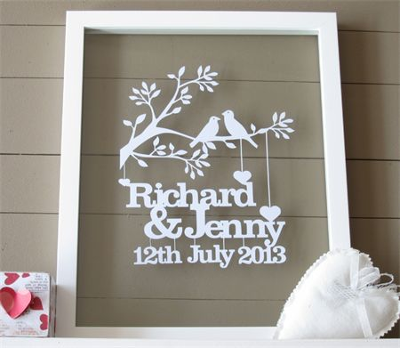 Personalised Gifts Ideas Framed Personalised Wedding Or