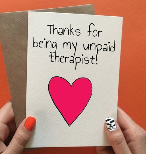 Funny Thank You Or Birthday Card For Best Friend Not Got An Occasion Pin