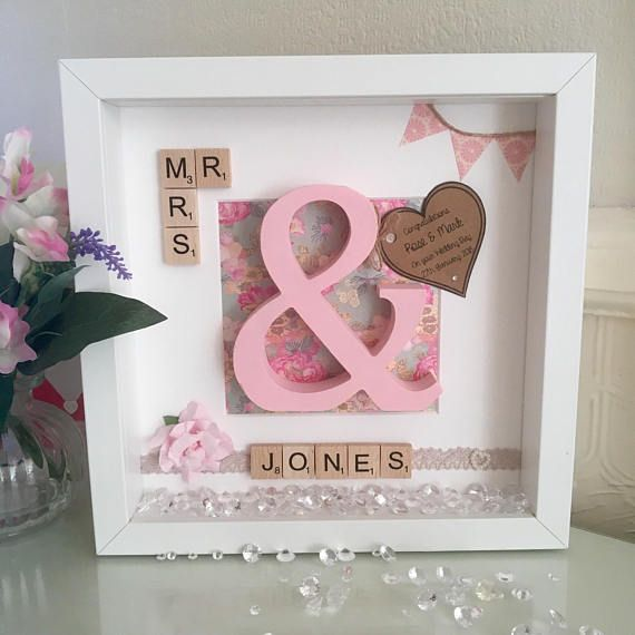Personalised Gifts Ideas Personalized Wedding Gift Box Frame