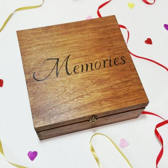 Personalised Gifts Ideas Wooden Memory Box L Make Memento L Wooden