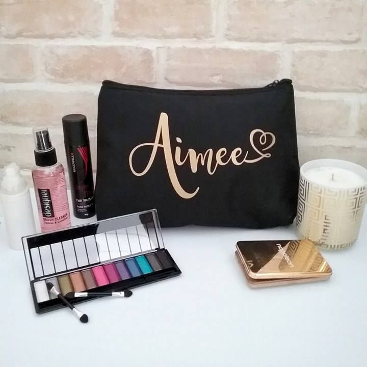 best Personalised makeup bags, cute makeup bags, large makeup bag, personalized ...