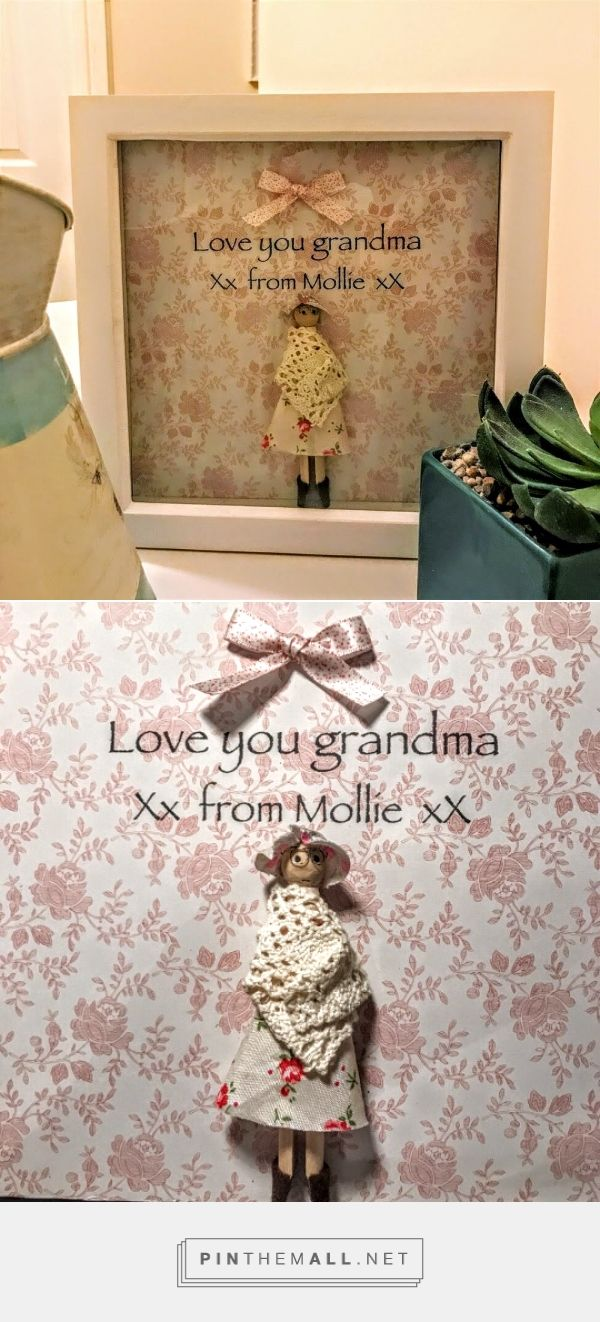 Love grandma Dolly-peg Frame grandma gift great grandma gift promoted to grandma...