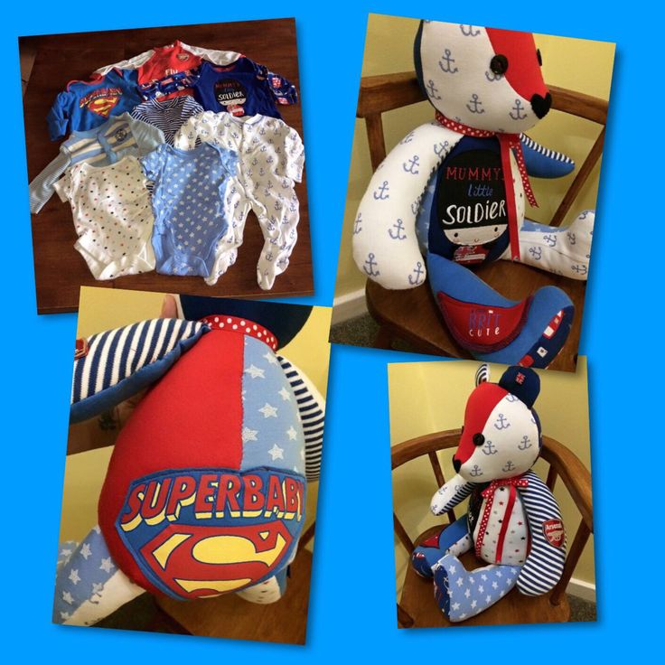 Keepsake bears made from your precious clothing, full of detail & memories. Hand...
