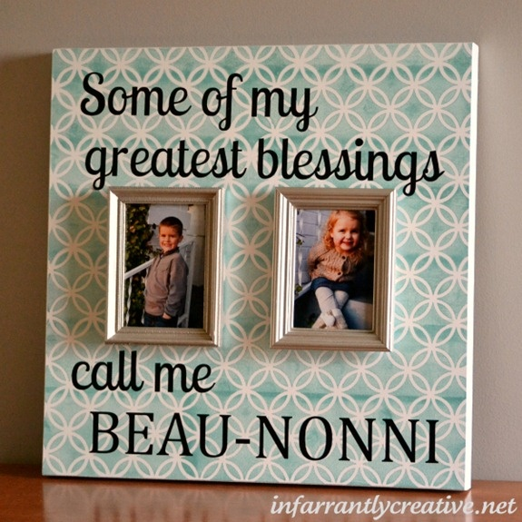Birthday Gifts Diy Personalized Picture Frame My Gifts List