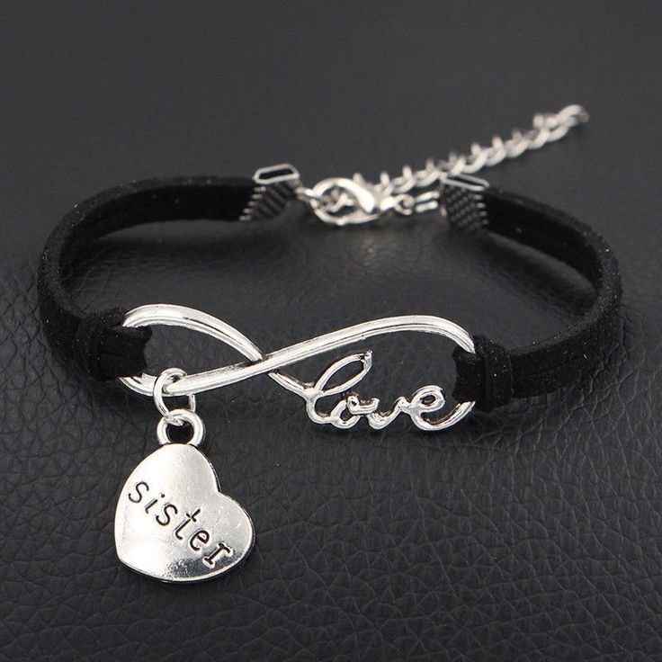 Birthday Gifts For Girls USA 1pc Infinity Love Sister Bracelet Anklet Heart Charm Friendship Sis Jewelry