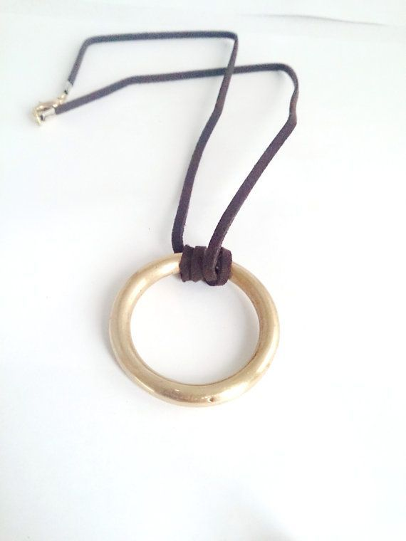 Corporate Gifts Ideas     Brass necklaceBrass ring Corporate gift Unique by rene...