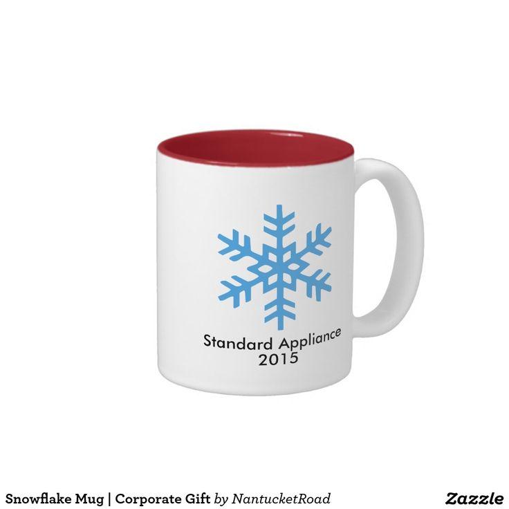 Snowflake Mug   Corporate Gift  #zazzle #mug #giftidea #corporategift