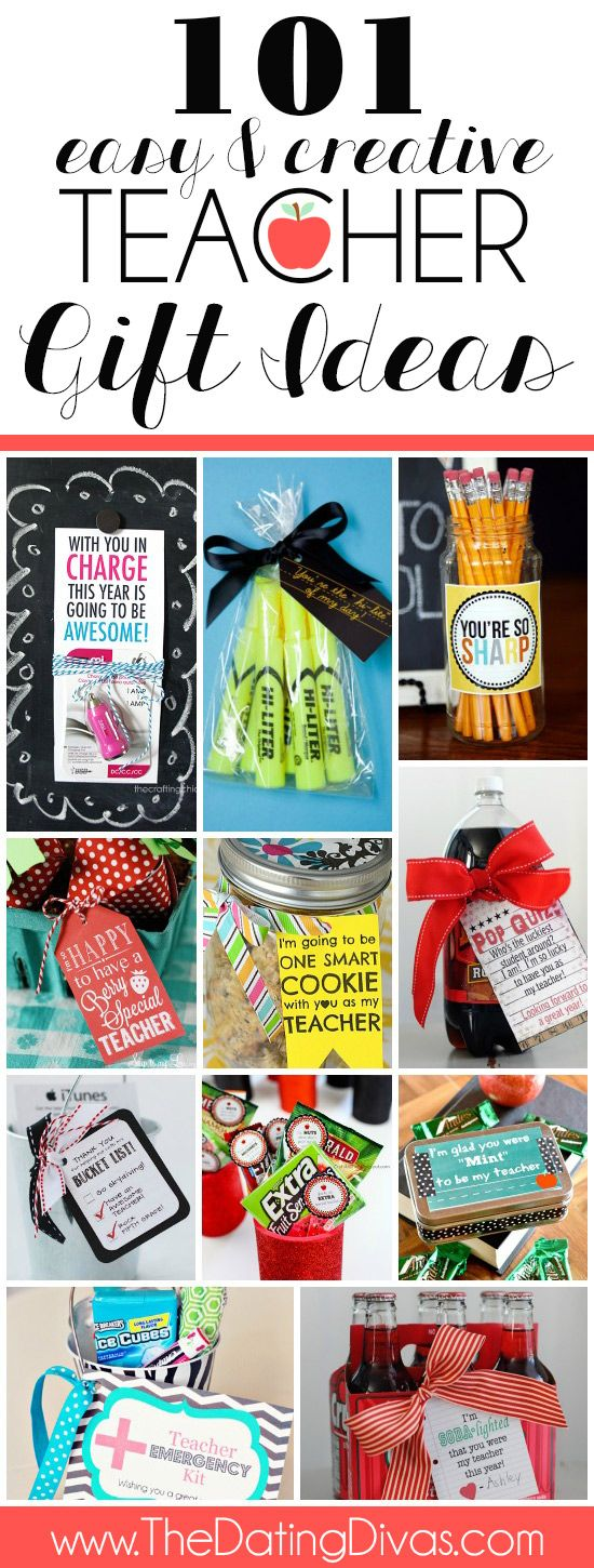 101 teacher gift ideas including ideas for the first day of for teacher birthday gifts for