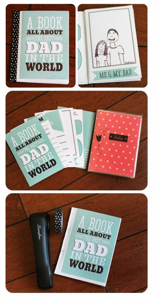 Diy Gifts A Book For Dad Free Printable Book For Dad And