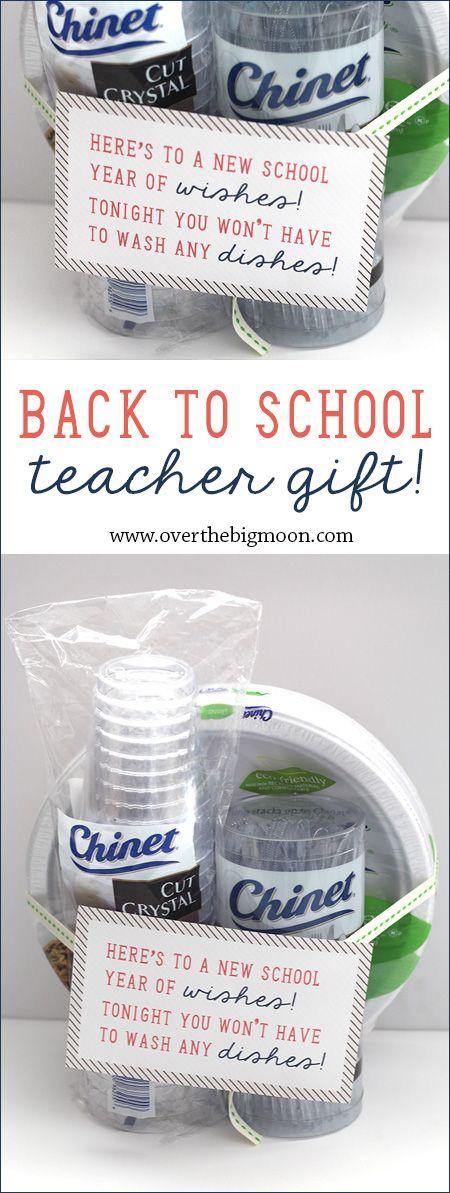 Back to School Teacher Gift Idea - disposable tableware is genius! Teachers are ...