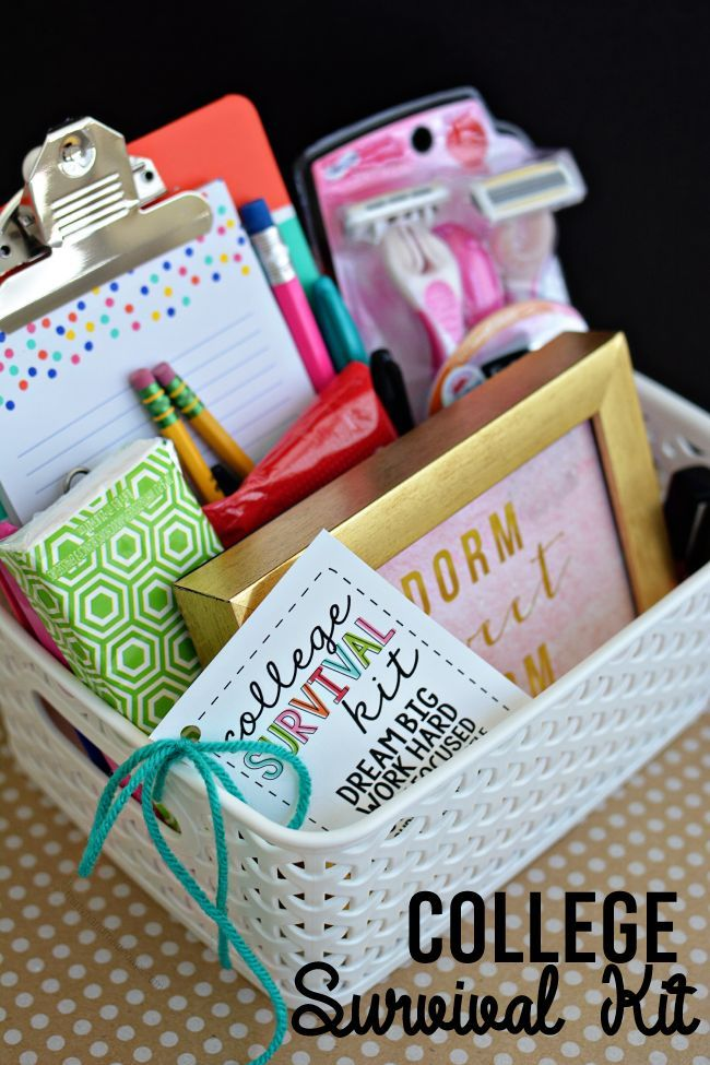 Diy Gifts College Survival Kit With Printables Cute Gift Idea For Someone On Their Way T My Gifts List Leading Gifts Inspiration Magazine Gift Ideas For Everyone Find