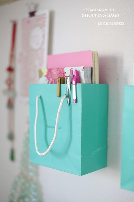 DIY Back to School Projects for Teens and Tweens - Use your favorite SHOPPING BA...
