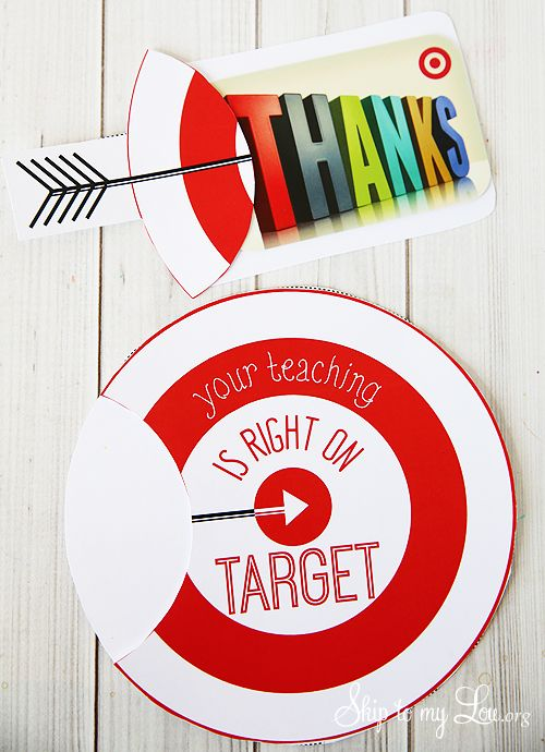 photo relating to Printable Target Gift Card known as Do it yourself Presents : Printable aim reward card holder for a instructor