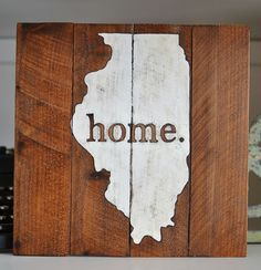 Home Illinois pallet reclaimed wood sign at My Midwest Home on Etsy www.etsy.com...