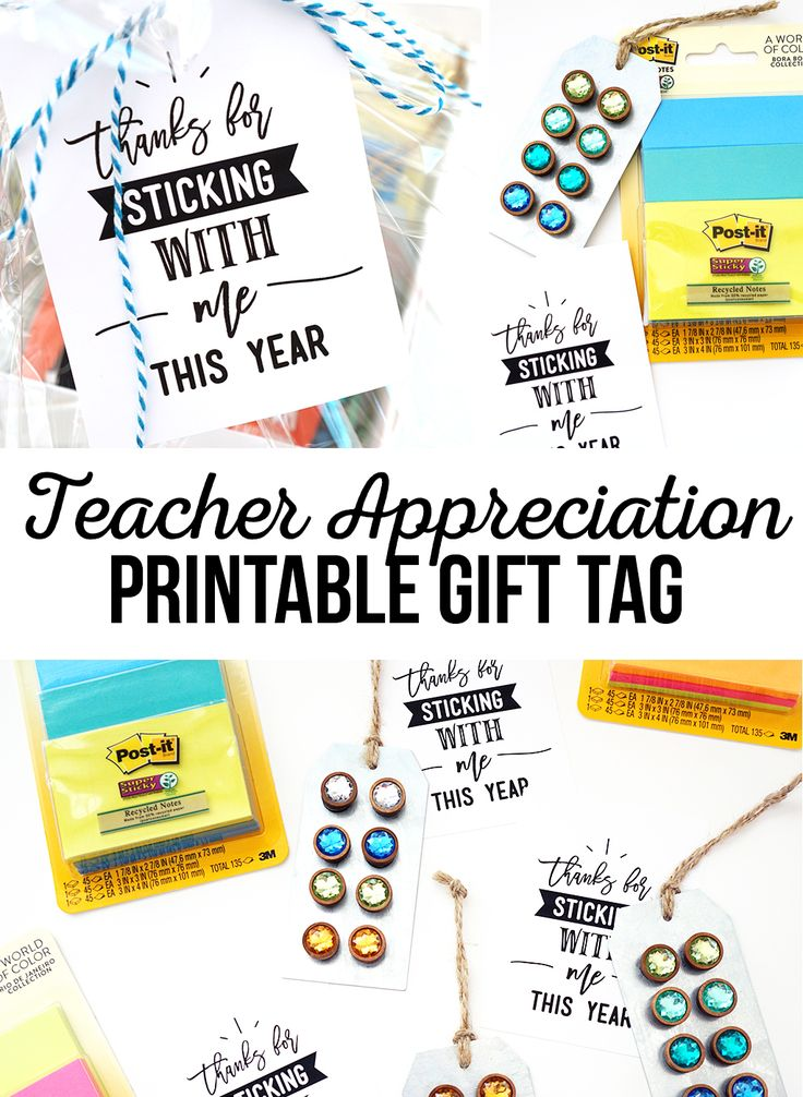photo relating to Printable Teacher Appreciation Tags named Do it yourself Items : Due for Sticking With Me Absolutely free Printable