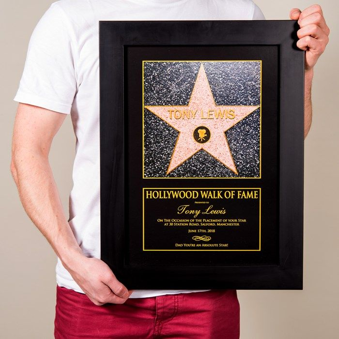 94942ed24a8e Personalised Gifts For Him   Personalised Framed Print - Hollywood ...
