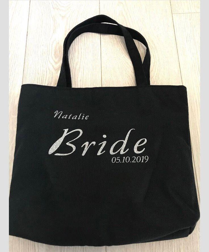 Bride bag, bridesmaid bag, personalised bag, wedding thank you gift, wedding gif...