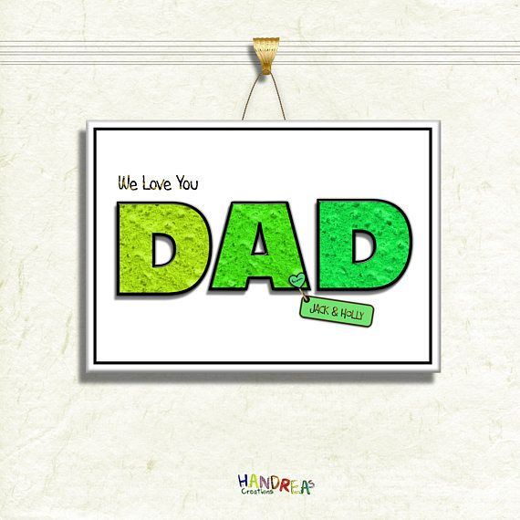 Dad Gift Personalised Printable Birthday For Fathersday Dadgift