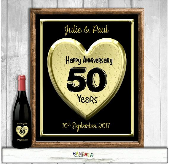 Personalised Gifts Ideas Personalised 50th Wedding Anniversary