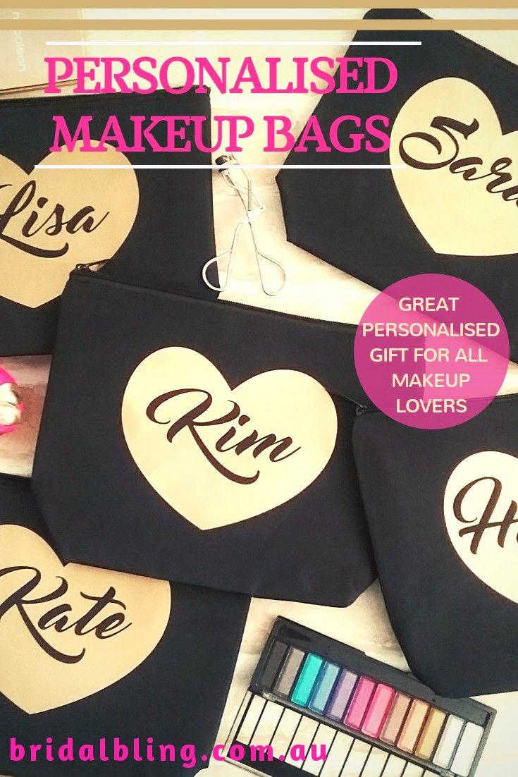 Personalised makeup bag, makeup lovers gift, makeup bag personalised, bridesmaid...