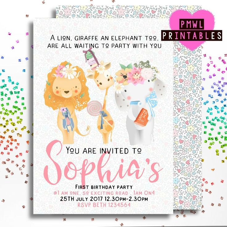 Personalised Gifts Ideas : Zoo party invite , birthday invitation ...