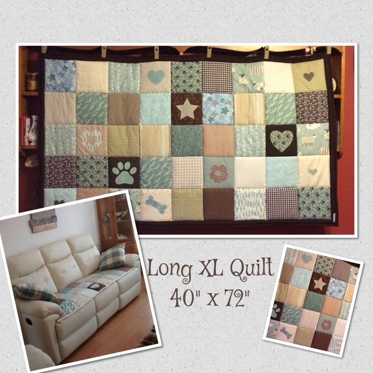 Personalised patchwork quilt handcrafted to order £90 #Quiltedthrow #Personalis...