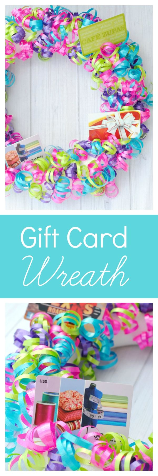 Birthday Gifts Creative Gift Card Ideas This Gift Card Wreath Is A Super Fun Way To Give Gift C My Gifts List Leading Gifts Inspiration Magazine Gift Ideas For Everyone