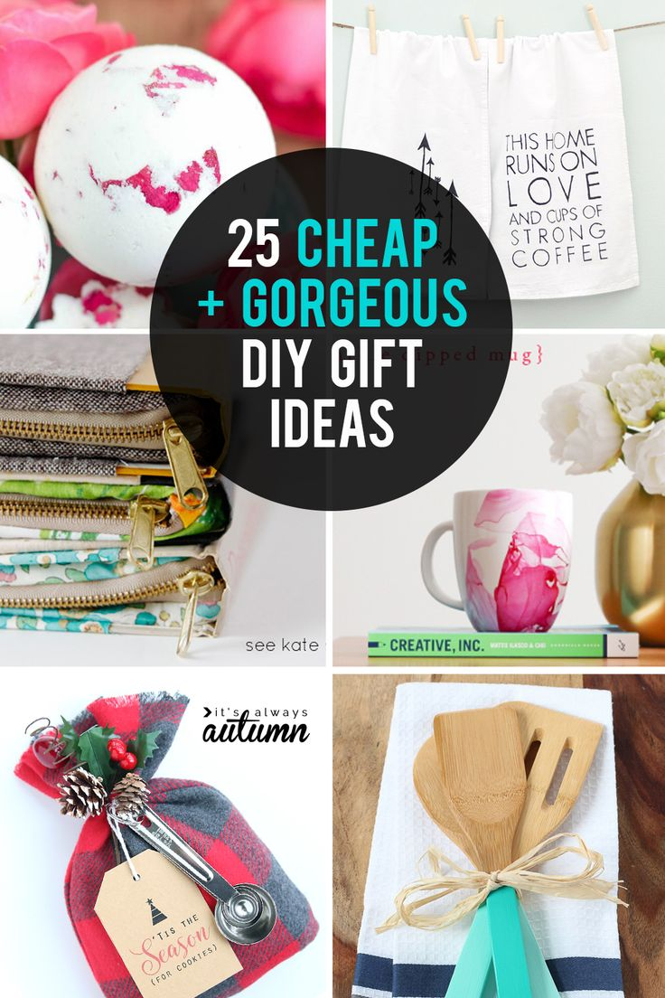 These DIY gifts ideas are cheap AND gorgeous! Great homemade gift ideas for Chri...