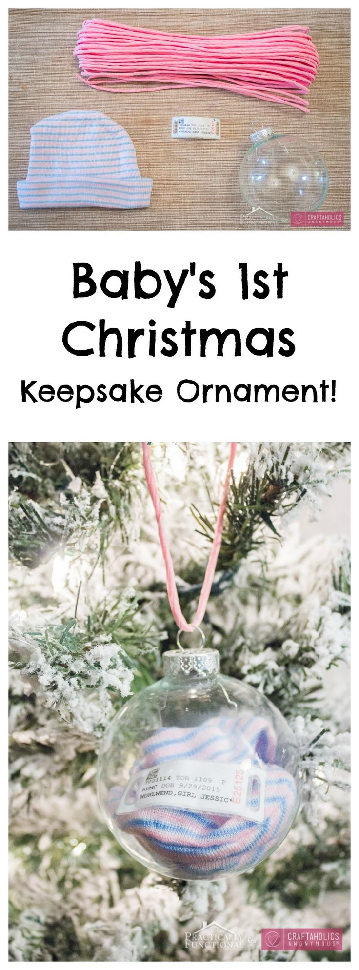 Babyu0027s First Christmas Ornament Tutorial. Such An Easy, Creative Keepsake  To.