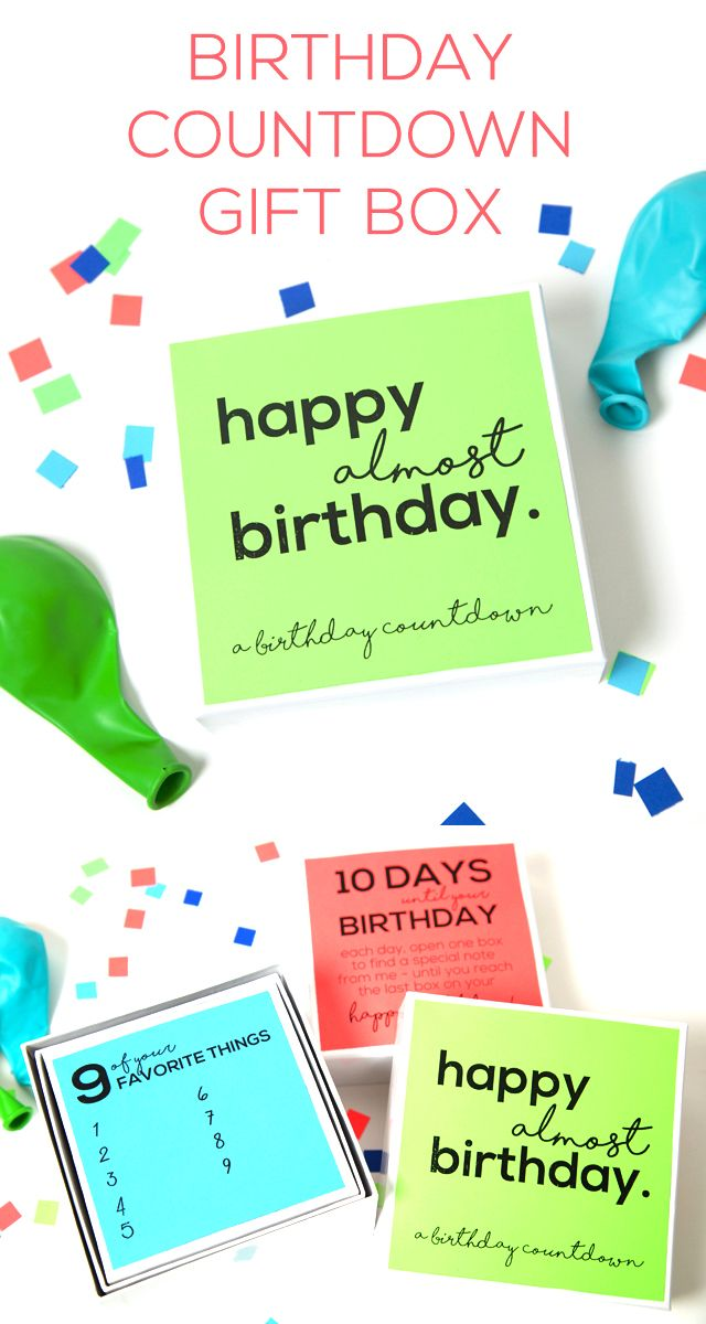 DIY Gifts Birthday Countdown Gift Box