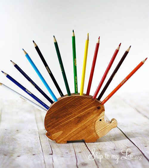 Diy Gifts How To Make A Wooden Hedgehog Pencil Holder A Simple