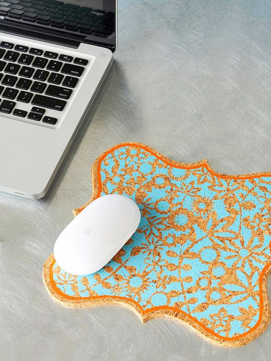 For the tech-savvy friend or family member, fashion this painted mouse pad from ...
