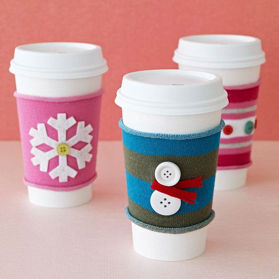 How cute! These Holiday Coffee Sleeves make terrific stocking stuffers.